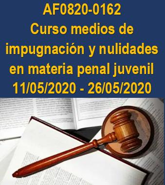 AF0820-0162 Curso medios de impugnación y nulidades en materia penal juvenil
