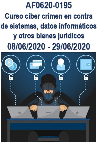AF0620-0195 CURSO CIBER CRIMEN EN CONTRA DE SISTEMAS, DATOS INFORMATICOS Y OTROS BIENES JURIDICOS