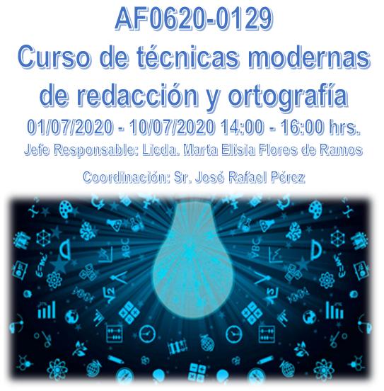 AF0620-0129 Curso de técnicas modernas de redacción y ortografía