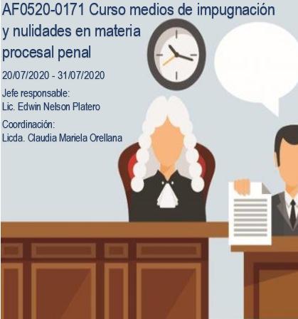 AF0520-0171 Curso medios de impugnación y nulidades en materia procesal penal