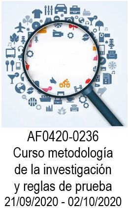 AF0420-0236 Curso metodología de la investigación y reglas de prueba