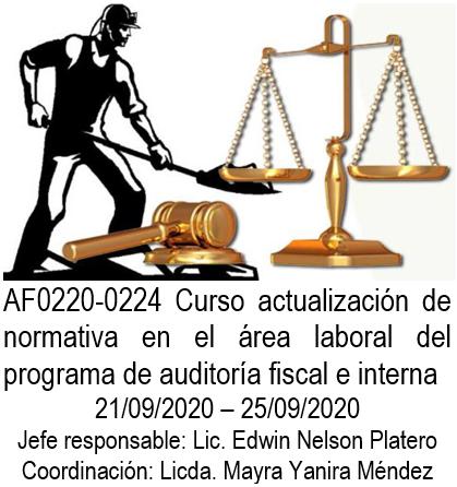 AF0220-0224 Curso actualización de normativa en el área laboral del programa de auditoría fiscal e interna